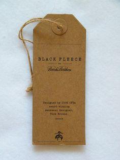 brooks brothers black fleece swing tag