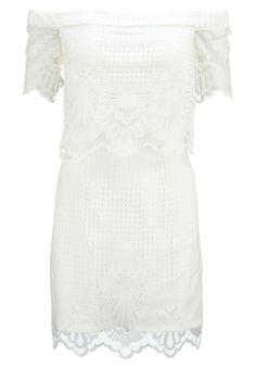 Topshop Korte jurk white Meer info via http://kledingwinkel.nl/product/topshop-korte-jurk-white-3/