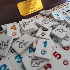 Personalized rummy tiles to make more fun your rumicube game experience. Personalized Tiles are suitable for Rummikub game. Custom rummy tiles. Personalized rummy cube tiles. Enter what you want to be engraved on tiles. Max 15 characters. Thank you!  Package includes total of 106 tiles(includes 2 How To Play Rummy, Game Night Parties, Tiles Game, New Homeowner Gift, Different Games, Family Games, House Warming, Tea Time, Personalized Gifts
