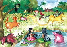 personagens_folclore_brasileiro Mermaids And Mermen, Deities, Disney Characters, Fictional Characters, Painting, Image, Mix, Ethnic, Education