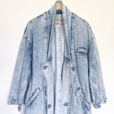 A personal favorite from my Etsy shop https://www.etsy.com/listing/260976605/vintage-long-denim-jacket