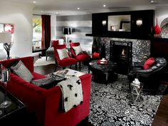 45 Gorgeous Red White Living Rooms Ideas Http Seragidecor
