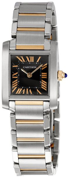 Cartier Women's W5010001 Tank Francaise Black Dial Watch ** Click on the watch…