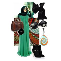 Hijab outfit!Trendy Party Dress & Fashionable Hijab | joyMuslim!Open your eyes as the fortune is knocking your doors!This astonishing green long dress is very pretty,  Especially when wear black high hell shoes, it will look more graceful, and fashionable. You can also wear a light green or black hijab, and if go to beach, a sun glasses is need to. This fashionable matching is sure to highlight your beauty!