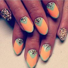 Madeline Poole Chevron Nails
