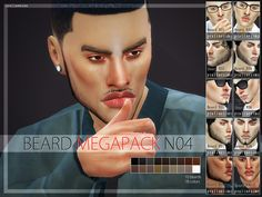10 new realistic beards for your male sims. All come in 18 colors. Found in TSR Category 'Sims 4 Hair Sets'