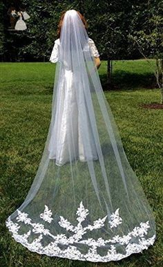 Bridal Wedding Gown Veil, Cathedral Length Veil - Bridal hats and veils (*Amazon Partner-Link)