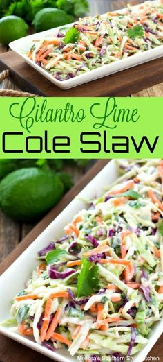 Cilantro Lime Cole Slaw You are in the right place about spinach salad recipes Here we offer you the most beautiful pictures about the salad recipes apple you are looking for. When you examine the Cilantro Lime Cole Slaw part of the picture you can … Healthy Food Recipes, Gourmet Recipes, Mexican Food Recipes, Low Carb Recipes, Cooking Recipes, Healthy Snacks, Smoker Recipes, Cooking Tips, Lime Recipes