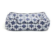 Marine Cotton Lounge Bed - Medium $169 http://domesticbeast.com
