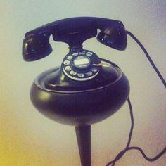 Vintage phone in the lobby of WDoha hotel, Qatar