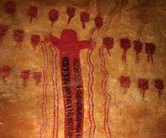 Pinturas rupestres en el Museo del Desierto, Saltillo