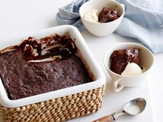 Microwave Chocolate Pudding Cake recipe from Food Network Kitchen via Food Network