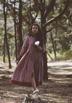 roha india designer designerwear organic cotton earthy fashion editorial indian inspired bindi free flowing garments rhea gupte the girl from FUSS indian accessories oxidized one with nature forest kurta kurti dresses tunics