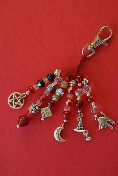 ☆ Pagan Wiccan Witch Keyring Handbag Charm :¦: Etsy Shop: RubysCharms ☆