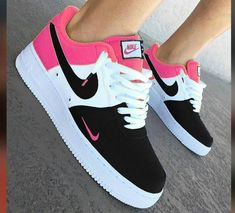 watch 03ec5 ac491  Areeisboujee Nike Custom Shoes, Pink Nike Shoes, Sneakers Women, Women s  Shoes Sneakers