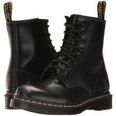 Dr. Martens 1460 W (Black Arcadia) Women's Boots ($140) ❤ liked on Polyvore featuring shoes, boots, ankle boots, dr martens shoes, black boots, bootie boots, black shootie and bootie shoes