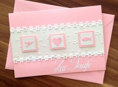 TAUFKARTE von SCRAPYCREATE-KARTENKISTE auf DaWanda.com Stamping Up, Diy Cards, Communion, Invitation Design, Birthday Invitations, Baby Shower, Etsy, Creative, Frame