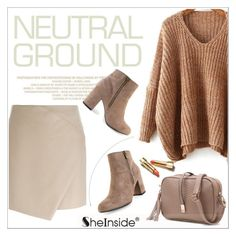 """Cool Neutrals"" by aurora-australis ❤ liked on Polyvore featuring Carven, Sheinside and neutrals"