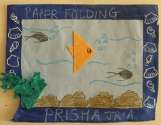 Paper Folding Work by prisha