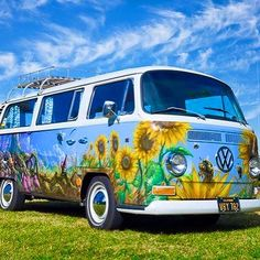 SUNFLOWER VW BUS