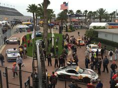Forgeline-equipped racecars fill victory lane, following the 2015 IMSA Continental Tire Sports Car Challenge BMW Performance 200 at Daytona. Shown here are the RS1 #17 ST Porsche Cayman, the Team TGM #64 ST BMW 328i, and Murillo Racing #56 ST Porsche Cayman (all on Forgeline GA3R wheels) and the Stevenson Motorsports #6 and #9 GS Chevrolet Camaro Z/28.Rs (both on Forgeline one piece forged monoblock GS1R wheels).  #Forgeline #GA3R #GS1R #notjustanotherprettywheel #madeinUSA
