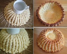 different ways to make pastry No Bake Pies, Pastry Recipes, Easter Party, Bread Baking, Food Hacks, Food Art, Buffet, Bakery, Vegan Recipes