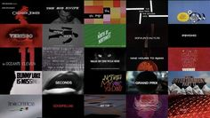 Short Post, Found Content: Movie Titles by Saul and Elaine Bass