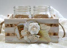 Shabby Chic DIY Flower Vases