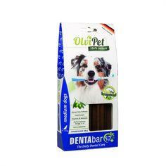 OlviPet DentaBar, el cepillo de dientes para perros con Inmune Boosting: elixir con aceite de oliva extraido manualmente; 100% natural y sin gluten.