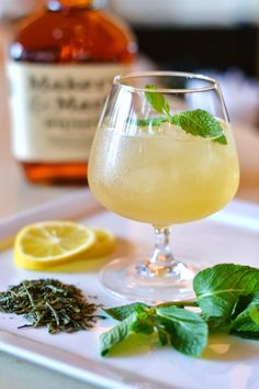 Bourbon Green Tea Cocktails Recipe for Mardi Gras - Redbook