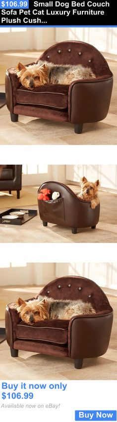 Animals Dog: Small Dog Bed Couch Sofa Pet Cat Luxury Furniture Plush Cushion Puppy BUY IT NOW ONLY: $106.99