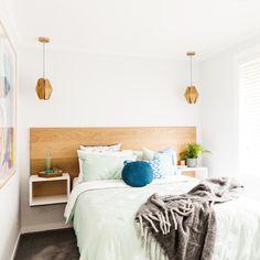 BLUE Ben & Jemma | Week 1 Room 1 | Guest BedThe Block Shop - Channel 9