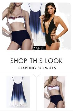 """Swimwear time"" by merimaa997 ❤ liked on Polyvore featuring Summer, beach and zaful"