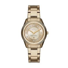 Armani Exchange Womens AX5431  Gold  Watch -- Read more reviews of the product by visiting the link on the image.Note:It is affiliate link to Amazon.