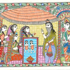 Buy An Epic Of Thousand Lines. Madhubani's Ramayana painting online - the original artwork by artist Unknown Artist, exclusively available at Mojarto only. Madhubani Art, Madhubani Painting, Ramayana Story, Indian Folk Art, Art N Craft, Online Painting, Art Forms, Original Artwork, Paintings