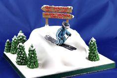 Skiier cake Handmade Chocolates, Novelty Cakes, Christening, Birthday Ideas, Wedding Cakes, Birthdays, Workshop, Anniversary, Christmas Ornaments