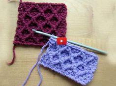 Crochet Tutorial Design A tutorial on how to crochet the diamond trellis stitch using front post treble crochet stitches. - A tutorial on how to crochet the diamond trellis stitch using front post treble crochet stitches. Crochet Diy, Crochet Motifs, Crochet Stitches Patterns, Tunisian Crochet, Crochet Squares, Crochet Crafts, Crochet Projects, Stitch Patterns, Knitting Patterns