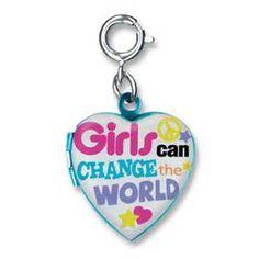 Charmit Girls Can Change The World Charm- $5.00