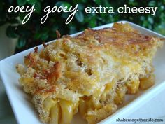ooey gooey extra cheesy almost homemade mac & cheese! What an easy side dish & a way to dress up boxed mac & cheese!