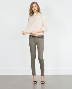 PANTALON SKINNY-Cigarette-Jeans-FEMME   ZARA France