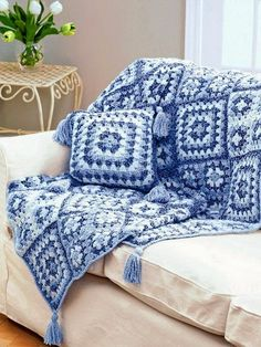 Crochet Patterns: Crochet Throw Blanket Crochet - Granny Square