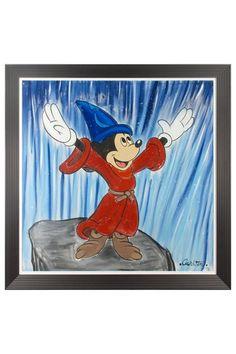 Fantasia Orginal Acrylic Painting on Canvas by Trevor Carlton Custom Framed 69 x70