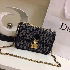 Dior Blue Dior Oblique Canvas Dioraddict Flap Bag - Spring 2018  2cd8a4db882cc