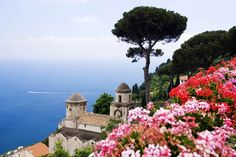 The view from Villa Rufolo Gardens in Ravello. Image by Jeremy Woodhouse / DigitalVision / Getty