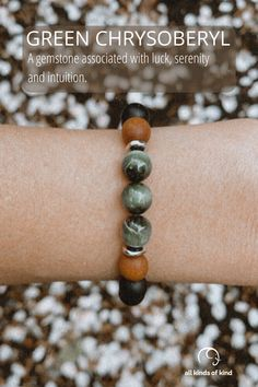 Green Chrysoberyl is thought to help one gain perspective in the midst of emotional situations. It is a reminder to be gentle with your self and lean in to ease when manifesting. Be Gentle With Yourself, Allergy Free, Gain, Perspective, Meant To Be, Gemstones, Bracelets, Handmade, Hand Made