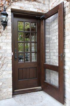 Craftsman style woodwork and screen doors on pinterest - Exterior door with screen built in ...