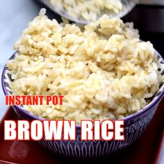 Instant Pot Brown Rice (Quick and Easy) is the best recipe to make the perfect rice using high pressure in the pot. You can use long grain, Basmati, or jasmine rice. Pair this dish with vegetables like broccoli or top with butter! Pressure Cooker Brown Rice, Instant Pot Pressure Cooker, Pressure Cooker Recipes, Basmati Rice Recipes, Brown Rice Recipes, Uk Recipes, Healthy Recipes, Perfect Brown Rice, Air Fryer Recipes Videos