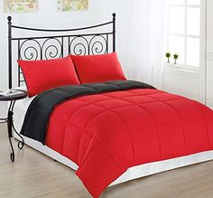 Cozy Beddings Reversible Down Alternative 2 Piece Comforter Set, Twin/Twin XL, Grey/Red Cozy Beddings http://www.amazon.com/dp/B01675O1YM/ref=cm_sw_r_pi_dp_y5m2wb009J4AW