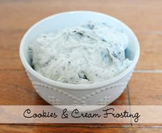 Cookies and Cream Frosting RECIPE  im going to make this for my B-day cake!!