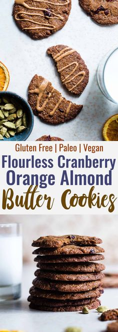 4 Points About Vintage And Standard Elizabethan Cooking Recipes! Orange Cardamom Paleo Almond Butter Cookies - So Crispy On The Outside, Chewy On The Inside And Loaded With Festive Flavor You Will Never Believe These Are Healthy, Vegan And Gluten Free Too Paleo Baking, Gluten Free Baking, Baking Recipes, Cookie Recipes, Snack Recipes, Dessert Recipes, Almond Butter Cookies, Paleo Cookies, Gluten Free Cookies